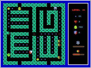 PacMan Remake mit 50 Level die eher schlicht gestaltet sind.