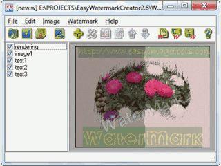 Fügen Sie Bildern Wasserzeichen in Form von Text oder Bildern hinzu.