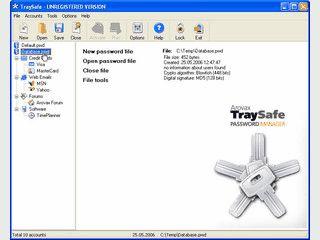 Speichert Passwörter und füllt Abfragen automatisch. Hardware-bezogener Schutz