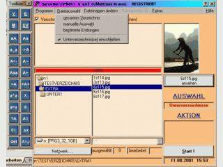 Über 30 Dateinamen-Manipulationen möglich.
