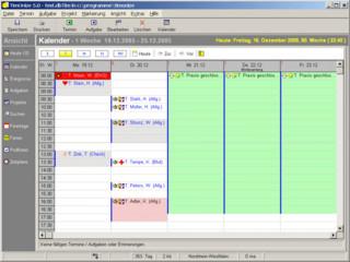 Termin- und Aufgabenverwaltung mit vielen verschiedenen Ansichten.