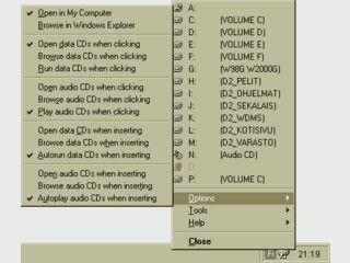 Über ein Icon im SysTray schnellen Zugriff auf alle Festplatten.