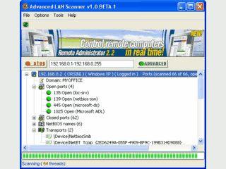Advanced LAN Scanner ist ein schneller Netzwerk-Scanner