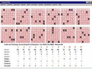 Lotto enthält alle Lottozahlen seit 1955.