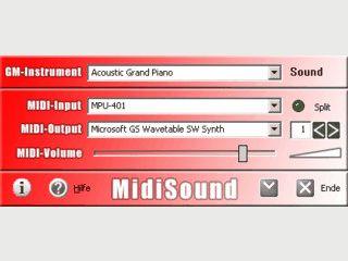 Einfache Software zur Sound-Ausgabe von am Midi-Keyboard gespielten Tönen