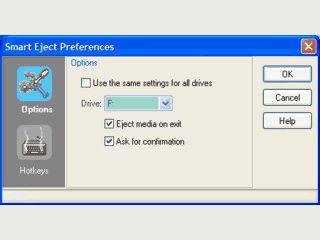 Automatischer Auswurf von Datenträgern beim Beenden von Windows