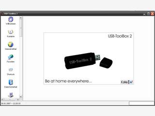 Tool-Sammlung mit verschiedenen Funktionen für den USB Stick.