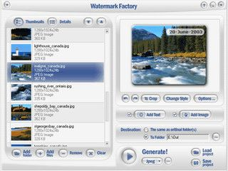 Fügt Bildern ein Wasserzeichen aus Text oder Bild hinzu. Mit Stapelverarbeitung