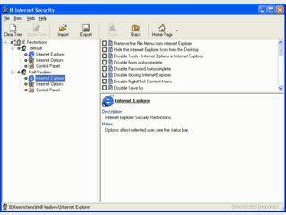 Einstellungen des Internet Explorers ändern und mit Passwort schützen.