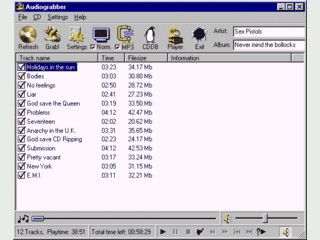 Eines der besten und schnellsten Programme um schnell Audio CDs auszulesen.