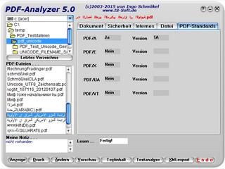Analyse-Tool für PDF-Dateien mit Textextraktion, -Analyse und XML-Export.
