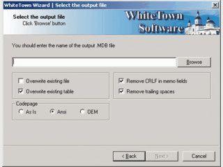 Speichert Daten aus einer DBF Datei als MDB (MS Access) Datei