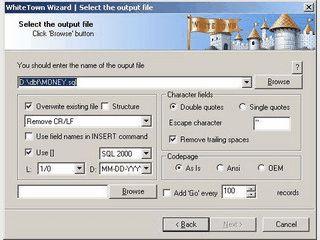 DBF Datenbanken im SQL Format exportieren.