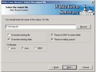 Konvertiert DBF Datenbanken als Excel Datei im Format XLS