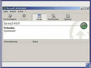Synchronisationstool für Handhelds mit Windows OS