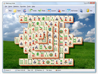MahJong Suite mit verschiedenen Varianten und integriertem Editor.