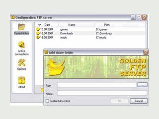 FTP Server mit begrenztem Funktionsumfang.