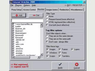 Internet Watcher ist ein Werbeblocker, Kinderschutz und Proxy.