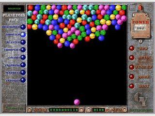 Sammlung mit Spielen in denen Sie Blasen zerstören müssen.