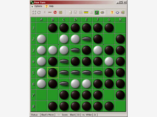 Grafisch ansprechender Reversi Clone den Sie gegen den Computer oder über Netzwe