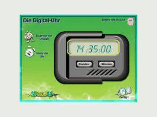 Kinder können erlernen, wie man eine Digitaluhr abliest