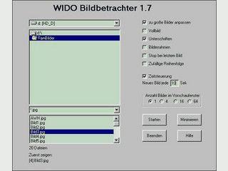Vollbild-Bildbetrachter der die Formate JPG, GIF, BMP, WMF unterstützt.