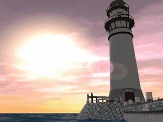 Ein Leuchtturm als Bildschirmschoner