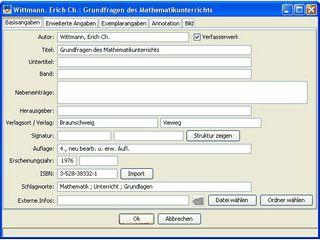 Bibliothekssoftware  bzw. Literaturverwaltung mit Ausleihverwaltung
