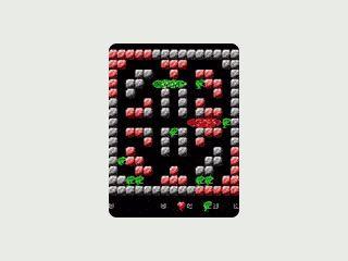 Einfaches Spiel für den Pocket PC. Eine Schlange frisst sich durch ein Labyrinth