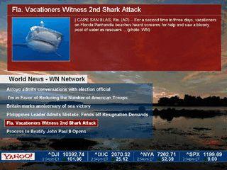 Bildschirmschoner, der die neusten Nachrichten und Wettervorhersagen einblendet.