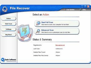 Wiederherstellung von gelöschten Dateien