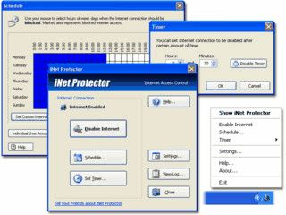Zugangskontrolle, bzw. Beschränkung für den Internetzugang.