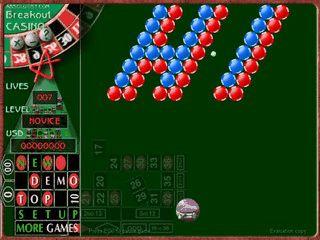 Breakout Clone im Casino-Design.