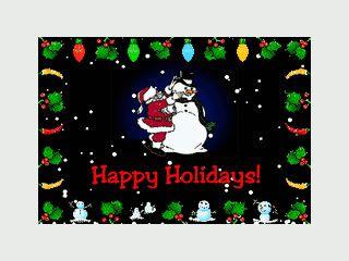 Holiday Lights ist wahrer Kitsch (Lichterketten) für Ihren Desktop.