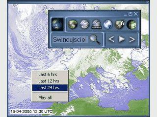 Zeigt Ihnen Wetterkarten und Wetterdaten von ausgewählten Regionen