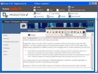 Flash-Webseite mit Hilfe von Templates erstellen