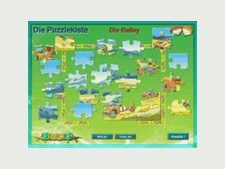 12 Puzzle mit je 25 Teilen und lustigen, bunten Motiven.