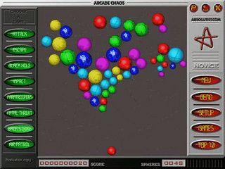 Verschiedene rasante Arcade-Spiele