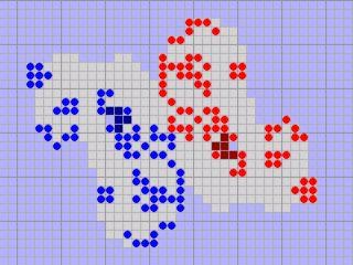 CellFighter ist eine Variation des Spiels Game of Life