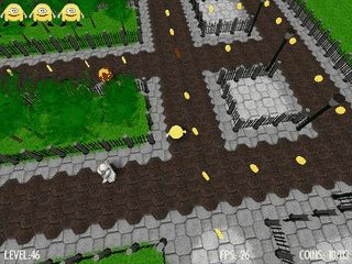3D Remake des Arcade Klassikers Pacman mit 60 Level.
