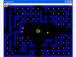 Verschiedene Level und Hi-Score-Tabelle in einem typischen PacMan Clone.