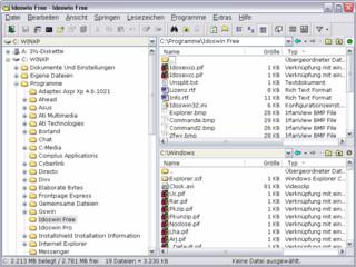 Dateimanager mit zwei Dateifenstern, Dateifilter, Anzeige von Dateien, uvm.