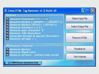 Entfernt HTML, Script und PHP Tags aus HTML Seiten