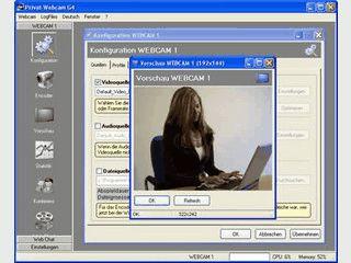 Umfangreiche Webcam-Software mit vielen Funktionen für bis zu 4 Cams