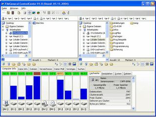 Dateimanager mit bewährter Zweidateifenstertechnik und vielen Zusatzfunktionen.