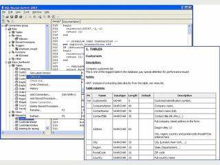 Software für die Arbeit mit dem MS SQL Server. Source-Dokumentation