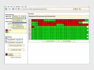Belegungsplan und Gästedatenbank für PHP und MySQL Webserver