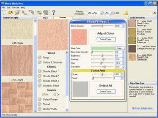 Tolle Software zur Erstellung von Texturen aus dem Material Holz.