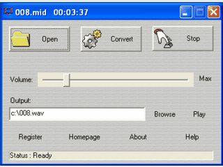 Konvertiert MIDI Dateien in das WAV Format.