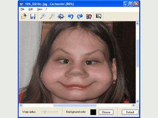 Bilder mit Gesichtern lassen sich verzerren.
